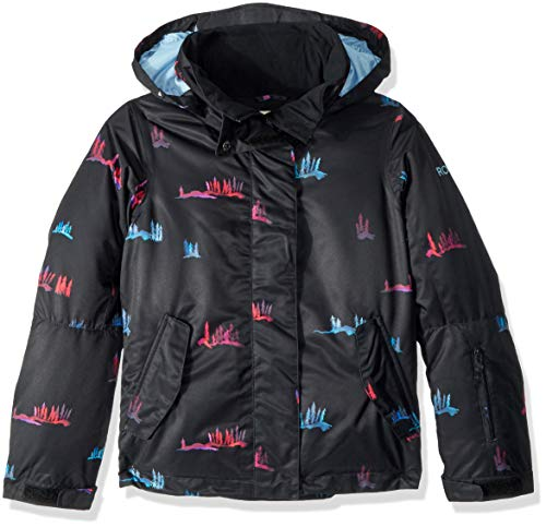 (Roxy Little Jetty Girl Snow Jacket, True Black_SNOWSALE, 8/S)