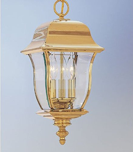 Designers Fountain 1554-PVD-PB 3 Light Outdoor Hanging Lantern, Polished brass by Designers Fountain