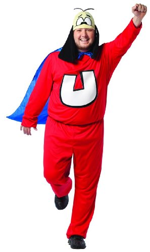 Rasta Imposta Plus-Size Underdog, Red/Blue, Adult (Underdog Cape)