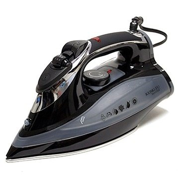 Kung Fu Stainless Steel Full Function 1450w Steam Iron, Black