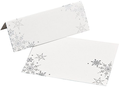 Fun Express Snowflake Place Cards - 24 Pieces