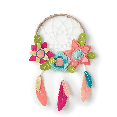 - Adorable Levtex Baby Anika Dream Catcher Wall Art in Pink/Brown