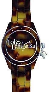 Lolita Lempicka Women`s Brown Dial Resin Band Watch [9500103]
