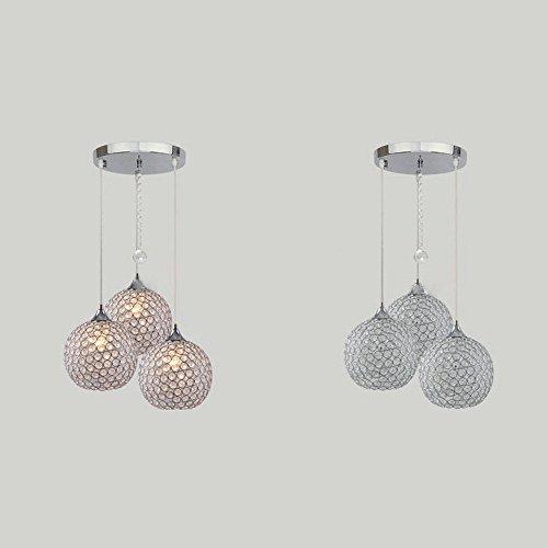Dinggutm 3 lights modern crystal ball pendant light fixture flush dinggutm 3 lights modern crystal ball pendant light fixture flush mounted ceiling chandelier amazon aloadofball Choice Image