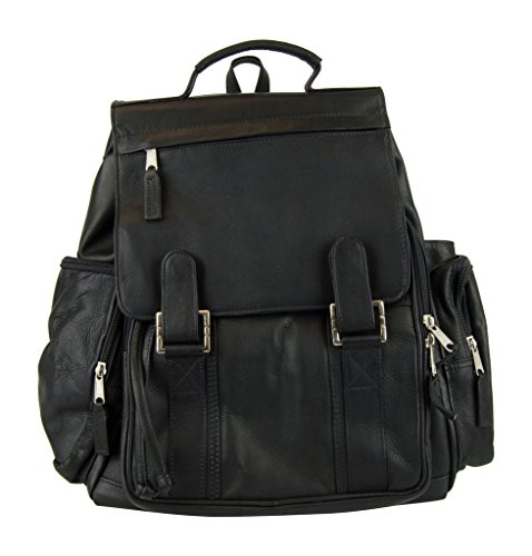 Latico Leathers Discovery Backpack, Black, Large, 100% Authentic Leather
