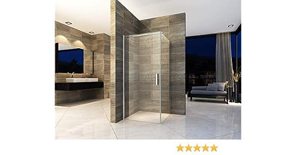 Cabina de ducha de 90 x 90 cm, ducha de esquina, mampara de ducha ...