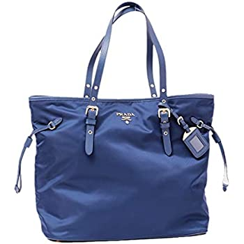81813223f799 Prada Tessuto Saffiano Royal Blue Nylon and Leather Trim Shopping Tote Bag  1BG997