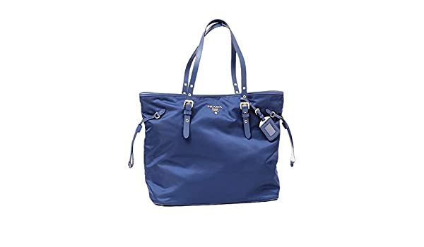 425bb5d7817f Prada Tessuto Saffiano Royal Blue Nylon and Leather Trim Shopping Tote Bag  1BG997: Amazon.ca: Shoes & Handbags