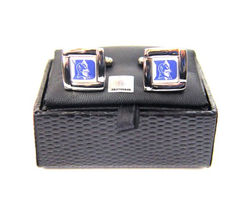 NCAA Duke Blue Devils Square Cuff Links, Team Color, 4