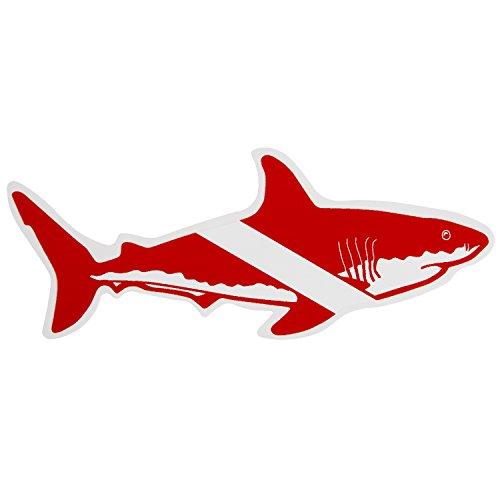 Trident Graphic Ocean Large Die Cut Scuba Sticker: 8 x 3.1 Inch, Shark