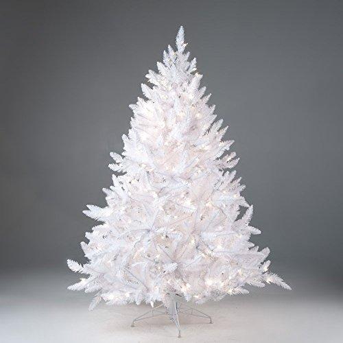 white spruce christmas tree pre lit - White Prelit Christmas Tree