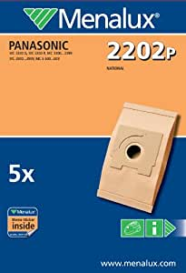 Menalux 2202 P - Bolsas para aspiradoras Panasonic (5 unidades)