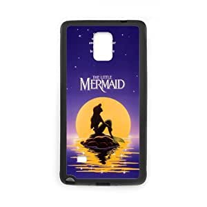 The Little Mermaid Case Pattern Hard Case Cover for Samsung Galaxy Note 4