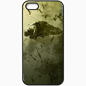 Personalized iPhone 5 5S Cell phone Case/Cover Skin Call Of Duty 4 Modern Warfare Soldiers Equipment Walk Black