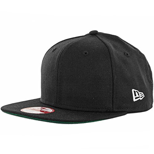 New Era 9Fifty Plain Blank Snapback Hat Original Uniform Cap Black Navy Red ()