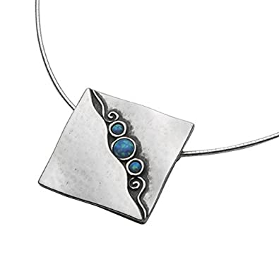 18e1b8527 Wonderful SHABLOOL ISRAEL Didae Handcrafted Opal 925 Sterling Silver  Necklace: Shablool Jewelry Design: Amazon.co.uk: Jewellery