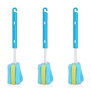 Pack of 3 Stretchable Long Handle Sponge Bottle Brush L.&G.