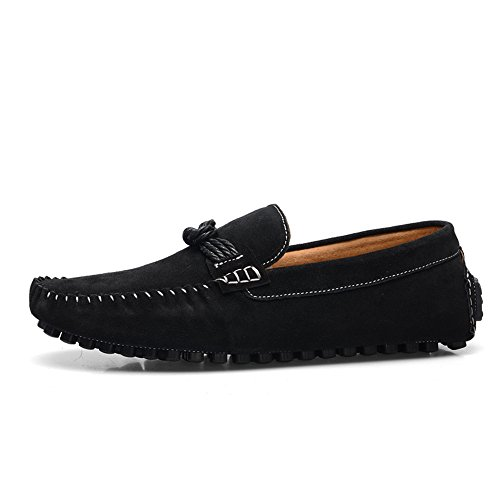 75483ed88db on sale SUNROLAN Men s Casual Suede Loafers Slip On Flat Moccasins Penny  Loafer Casual Boat Driving