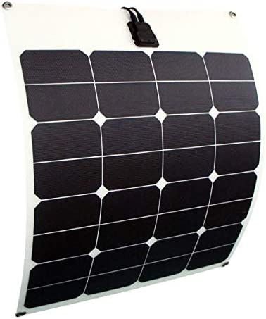 enjoysolar® flexibel Solarmodul 50W Solarpanel 12V ideal für Caravan Boot Yacht