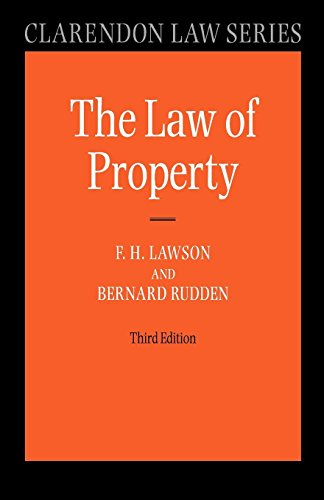Law of Property (Clarendon Law Series) by Bernard Rudden