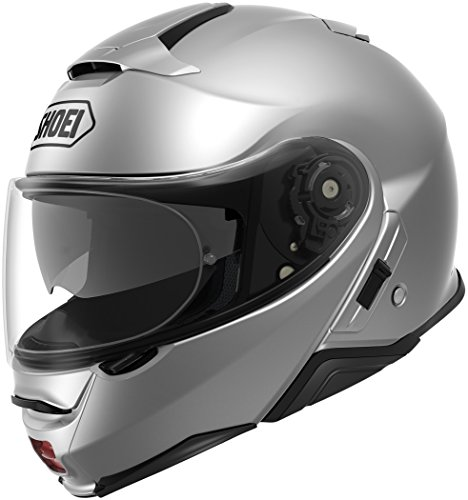 Shoei Solid Neotec 2 Modular Motorcycle Helmet - Light Silver/X-Small -  0116-0107-03
