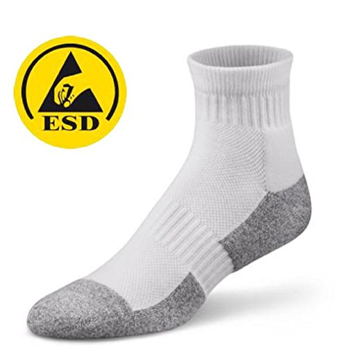 - StaticTek SC0026 ESD Apparel, Static Control Socks, ESD Accessories, Medium (1 Pair)
