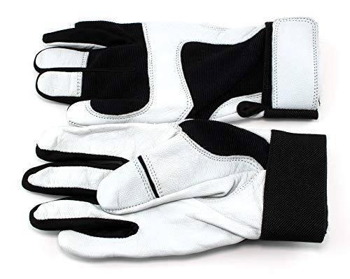 ALLNESS INC Sheep Skin Leather Made Batting Gloves for Base Ball and Soft Ball (Large) (Soft Leather Baseball Glove)
