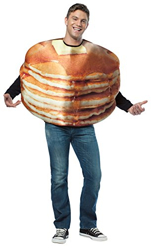 Pancake Halloween Costume (Mens Halloween Costume- Get Real Stacked Pancakes Adult)