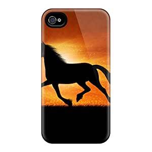 Iphone 6 Black Horse Print High Quality Frame Cases Covers