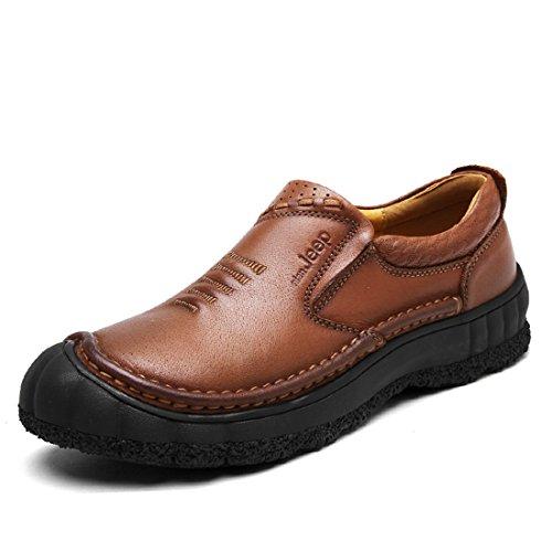Heren Outdoor Sport Hardloopschoenen Lichtgewicht Casual Sneakers 8256 Bruin