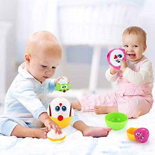 VATOS Nesting Easter Plastic Eggs Toy, Eggs Stacking Toy, Stacker Toys for 18 Months+ Baby Infant Toddler, Educational Toys for 1.5+ Years old Girl and Boys, Cute Chicken Family Style Baby Toddler Toy by VATOS (Image #6)