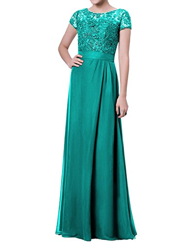 JAEDEN Mother of The Bride Dress with Sleeves Formal Evening Dress for Wedding Party Gown Jade US18W (Jade Designer Mother Of The Bride Dresses)