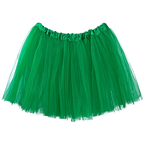 Girls Emerald Witch Costumes (My Lello Women's, Teen, Adult 3-Layer Ballet Tulle Tutu Skirt -Emerald)