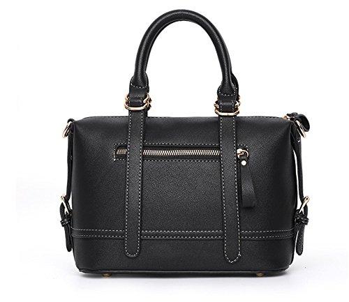 De Señoras Bolsa Trend Bolsos Shoulder Pillow Hand Bao Zipper Black Bags Moda Simple Personalidad Brown Pack Las Diagonal qCfwp5HR