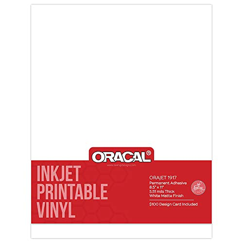 Oracal Inkjet Printable Permanent Adhesive Vinyl 8.5