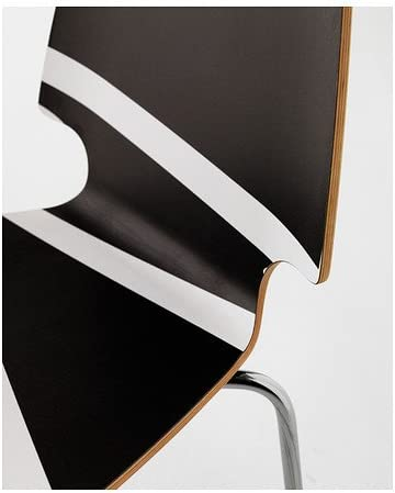 VILMAR Stuhl, schwarz weiß weißschwarz, verchromt