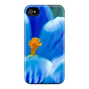 Hot Tpye Mother S Day Beautiful Flower Blue Tulip Case Cover For Iphone 4/4s