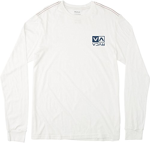 RVCA Men's Flipped Box Long Sleeve Tee, Antique/White, X-Small