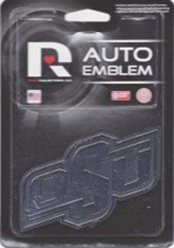 Rico Industries NCAA Oklahoma State Cowboys Chrome Finished Auto Emblem 3D Sticker ()