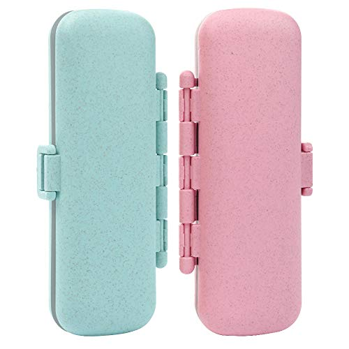Travel Pill Case Daily Pill Box 7 Removable Compartments Pill Organizer Moisture-Proof Small Pill Box to Hold Vitamin Fish Oil 2019 Upgraded Best Medicine Pill Organizer -Pink and Green (Best Birth Control Pill 2019)