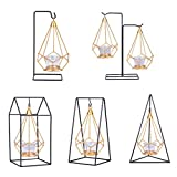 Baosity 5X Modern Iron Geometry Candle Rack Crafts Hanging Ornament Candlestick Gift