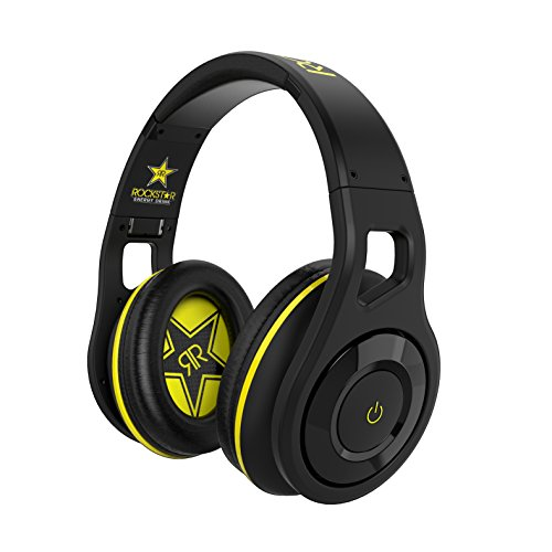- SCOSCHE Reference Grade Rockstar Edition Wireless Bluetooth Over-Ear Foldable Lightweight Headphones Included Carrying Case-40mm Realm Audio Drivers Built-In Mic and Track Controls - Black (RH1060RS)