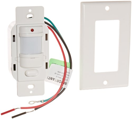 Rab Lighting Occupancy Sensor - RAB Lighting LOS1000W/120 Occupancy Sensor with Decorator Wall Plates, 1000W Power, 120V, White