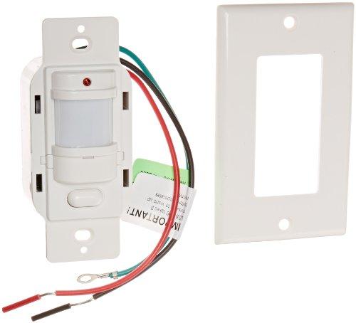 RAB Lighting LOS1000W/120 Occupancy Sensor with Decorator Wall Plates, 1000W Power, 120V, White