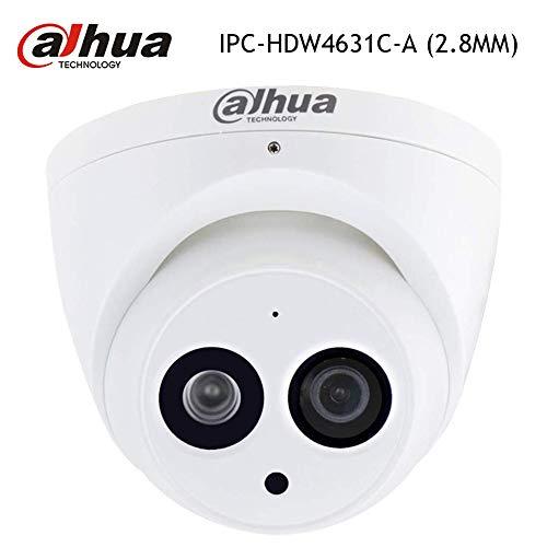 Dahua 6MP IP Camera Starlight IPC-HDW4631C-A 2.8mm PoE Dome IP Camera Turret Super HD Eyeball Network Security Camera Built-in Mic for Audio, 100ft IR Day & Night, H.265, IP67 Weatherproof