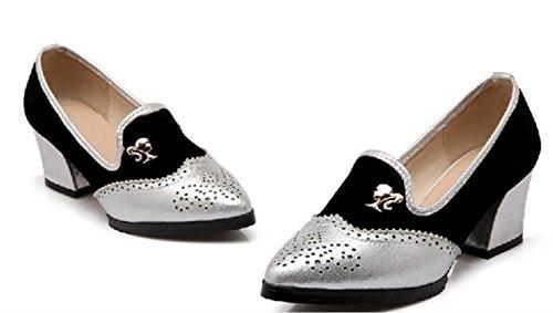 YCMDM donne da damigella d'onore scarpe da lavoro Scarpe Large Size singoli pattini Sandali , silver , 33