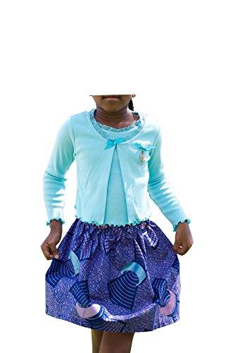 African Print Wewe Gathered Skirt - Kids - Sz 6 -7 (Print Gathered Skirt)