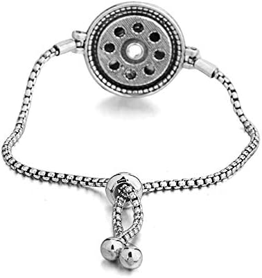 Slider Bracele Fit Standard Size Snaps ZHU YU CHUN Rhinestone Adjustable Interchangeable Snap Buttons Bracelet