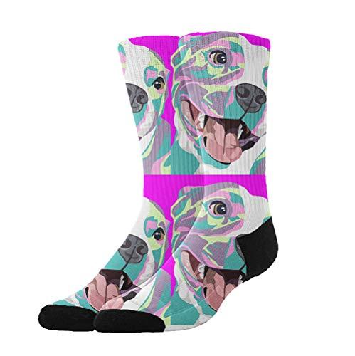 Pitbull Pop Art - 3D Compression Socks for Men Women Boys Girls Kids, Athletic Socks Fit for Running Hiking Cycling Camping -