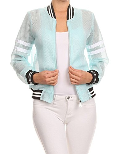 makeitmint Womens Zip Up Summer Bomber product image